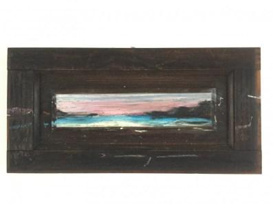 Famara sunset on wooden shutter | 50x25 cm