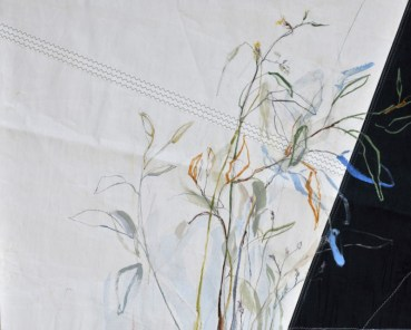 Flowers Sail Grasses | Acrylic on sailcloth | 120 x80 cm | Steel frame top&bottom