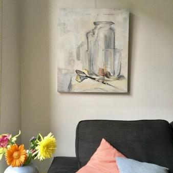 Still life painting on wall| Kunstuitleen Alkmaar