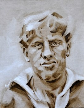 Harry Oort | football player AZ Alkmaar | acrylic on canvas linnen | 70x80cm