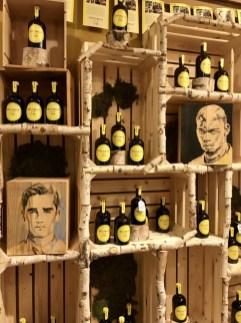 Griezmann & Pogba portraits on winebox   acrylic on wood