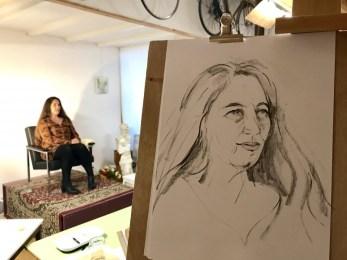 Model Drawing Portret Tekenen | Ghislaine | 2019