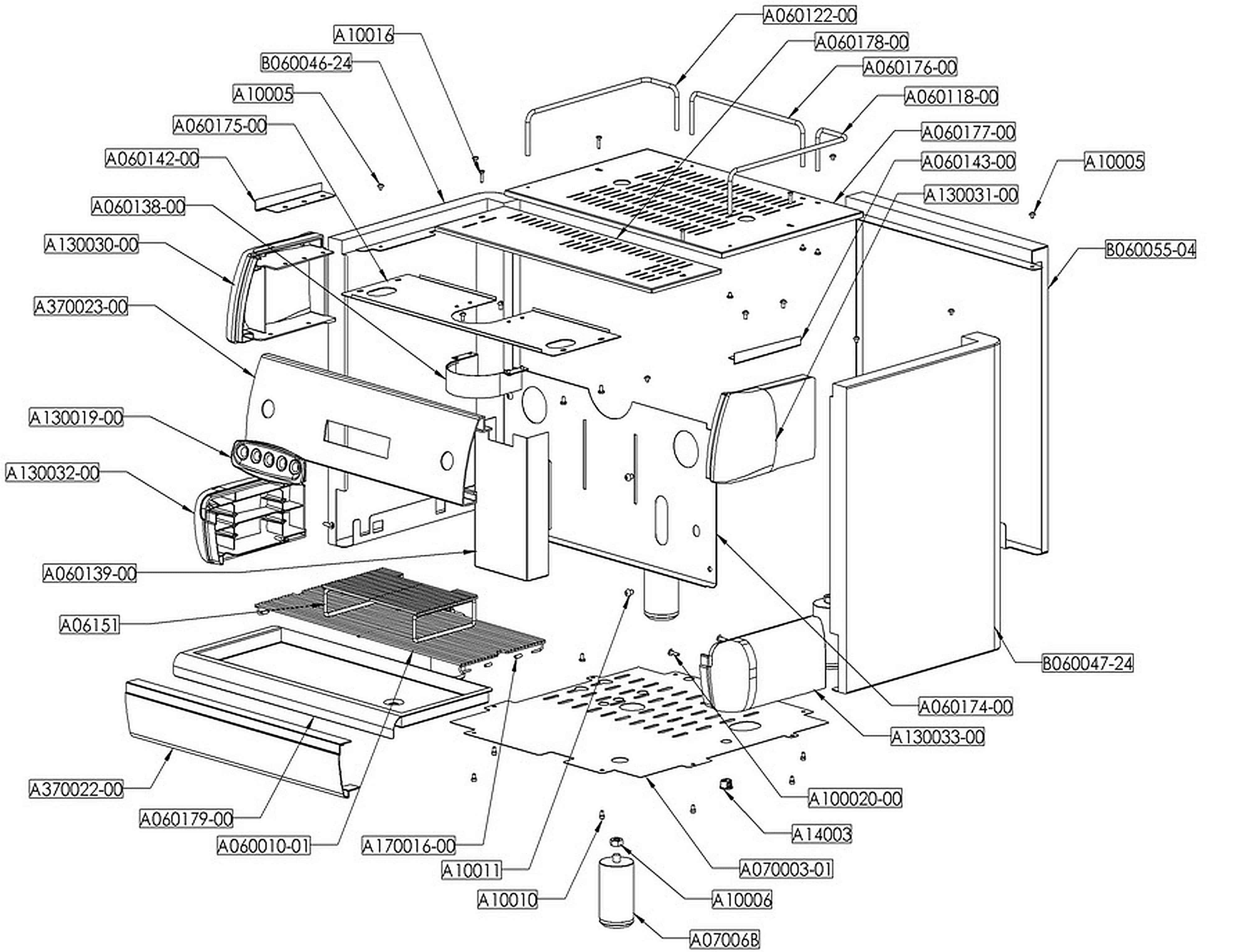 Pierro Silver Body Spare Parts Schematic
