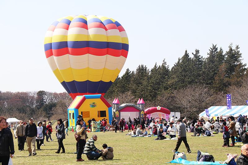 桃まつりイベント気球搭乗