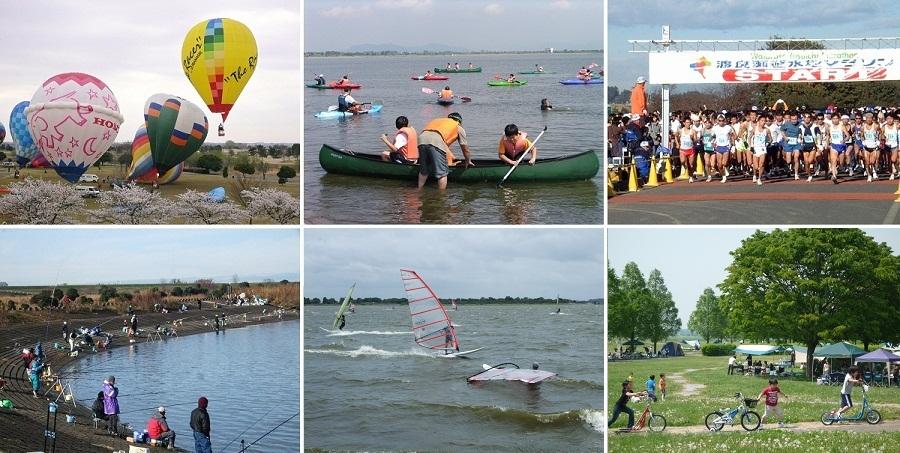 渡良瀬遊水地(谷中湖)で開催されるスポーツ