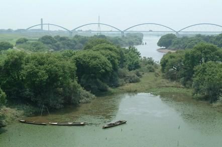 三国橋から撮影した新三国橋