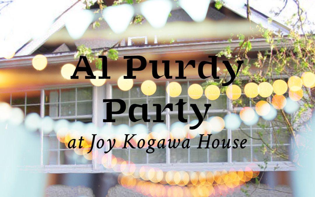 Al Purdy Party at Joy Kogawa House