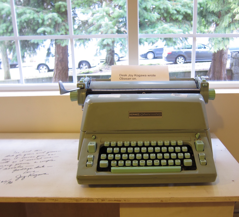 Joy Kogawa's Desk with Typewriter