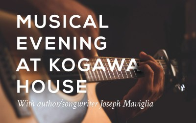 Author/songwriter Joseph Maviglia hosts a musical evening