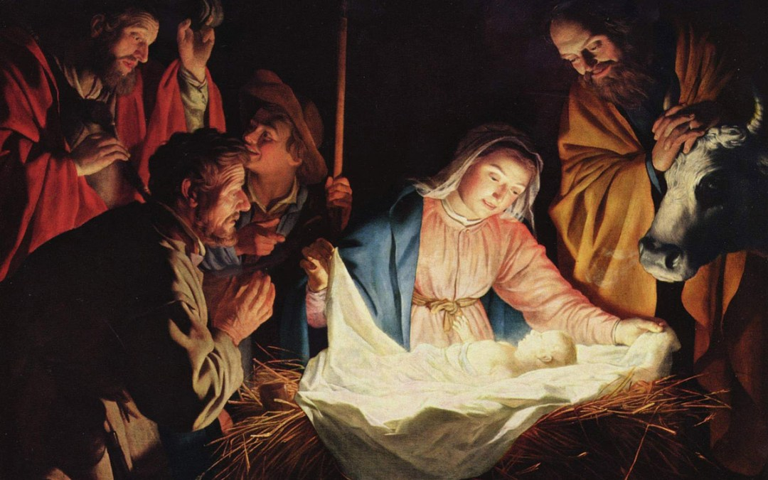 The Adoration of the Shepherds by Gerard van Honthorst, Public Domain