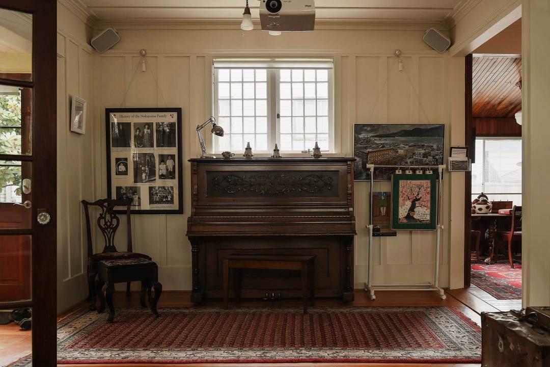 Historic Joy Kogawa House living room space.