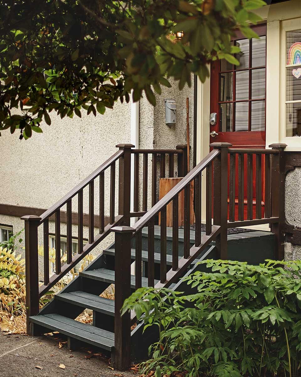 Joy Kogawa House - Entrance, five steps