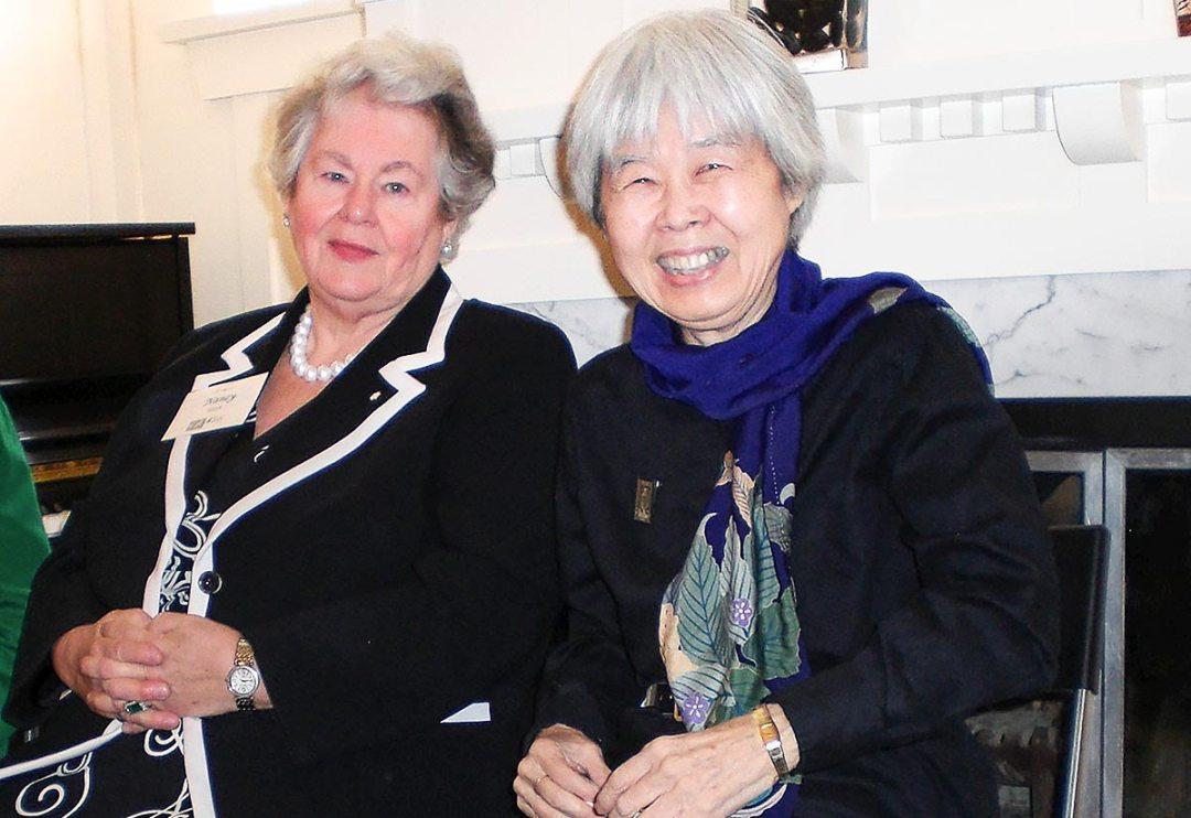 Nancy Ruth with Joy Kogawa. Photo by Todd Wong
