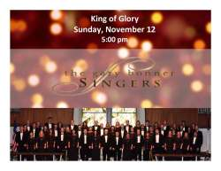 Concert announcement for the Gary Bonner Singers at King of Glory