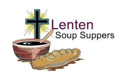 Picture of cross, bowl of soup, and a small loaf of bread