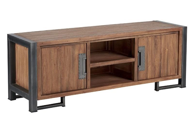 meuble tv teck metal wales l 150 cm casita