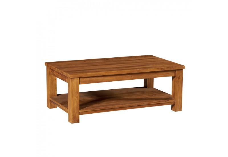 table basse rectangulaire en teck borneo l 120 cm casita