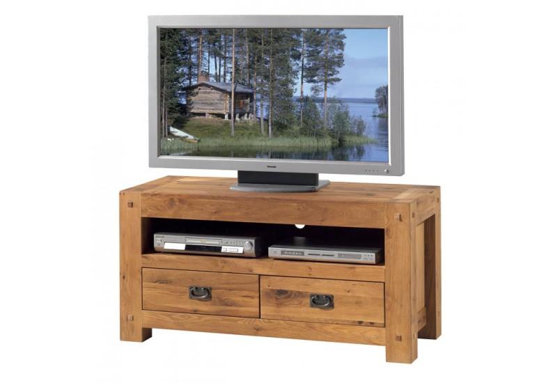 meuble tv en chene lodge l 120 cm casita
