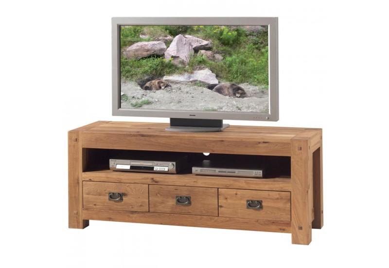 meuble tv en chene lodge l 150 cm casita