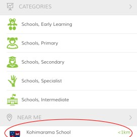 Either search for Kohimarama School and select or it may appear in the Near Me section