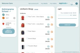 To select an item, click on your child's initial.