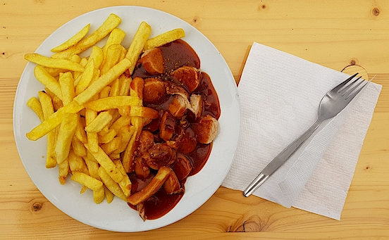 Currywurst Kohlenspott
