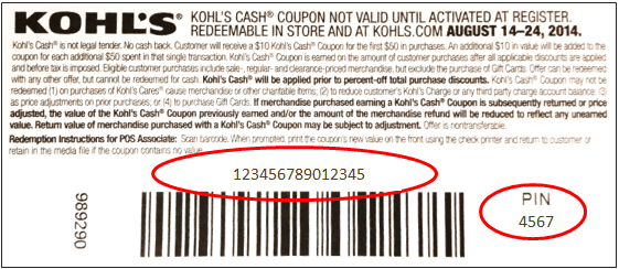 Kohl S Gift Card Number And Pin