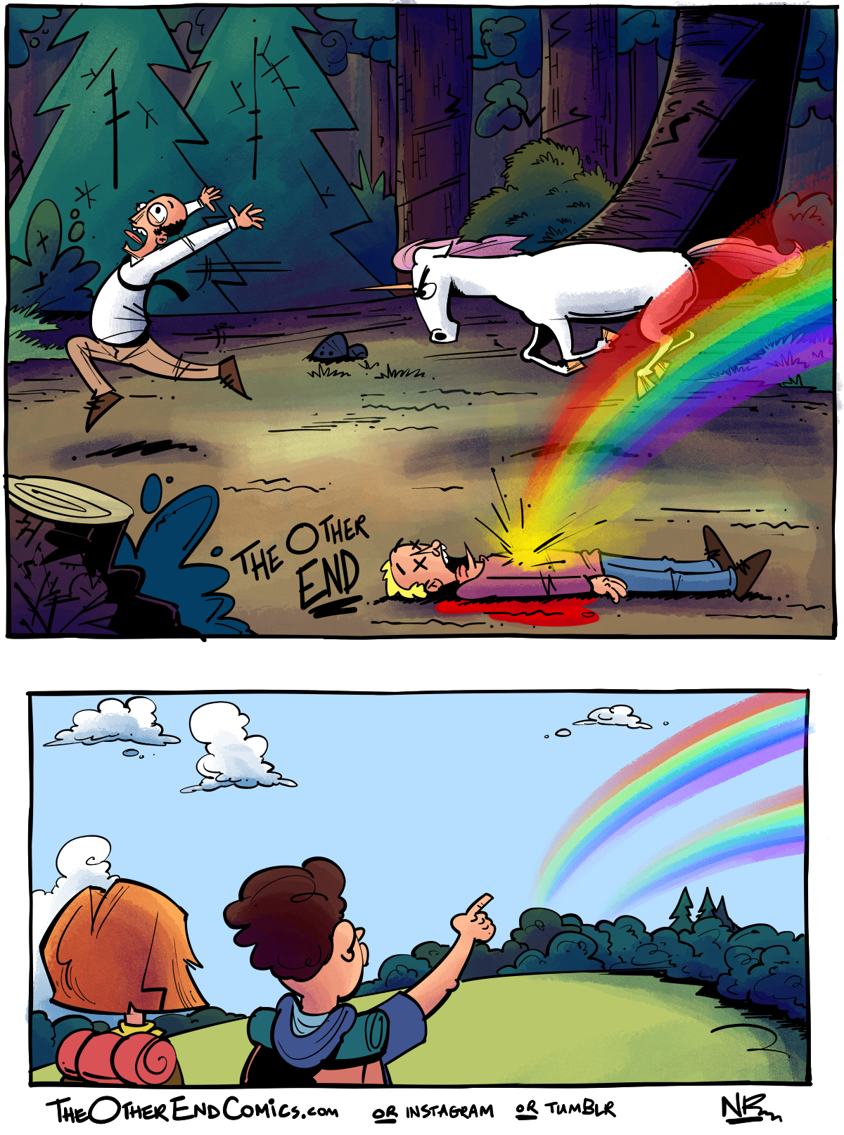 Rainbows aren't even real. This comic is so fake.