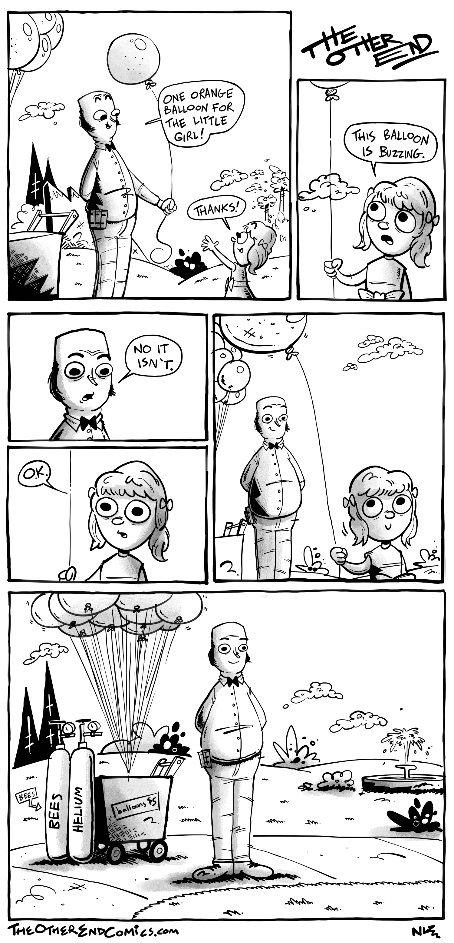 I don't even think that balloon is orange. This comic is so fake.