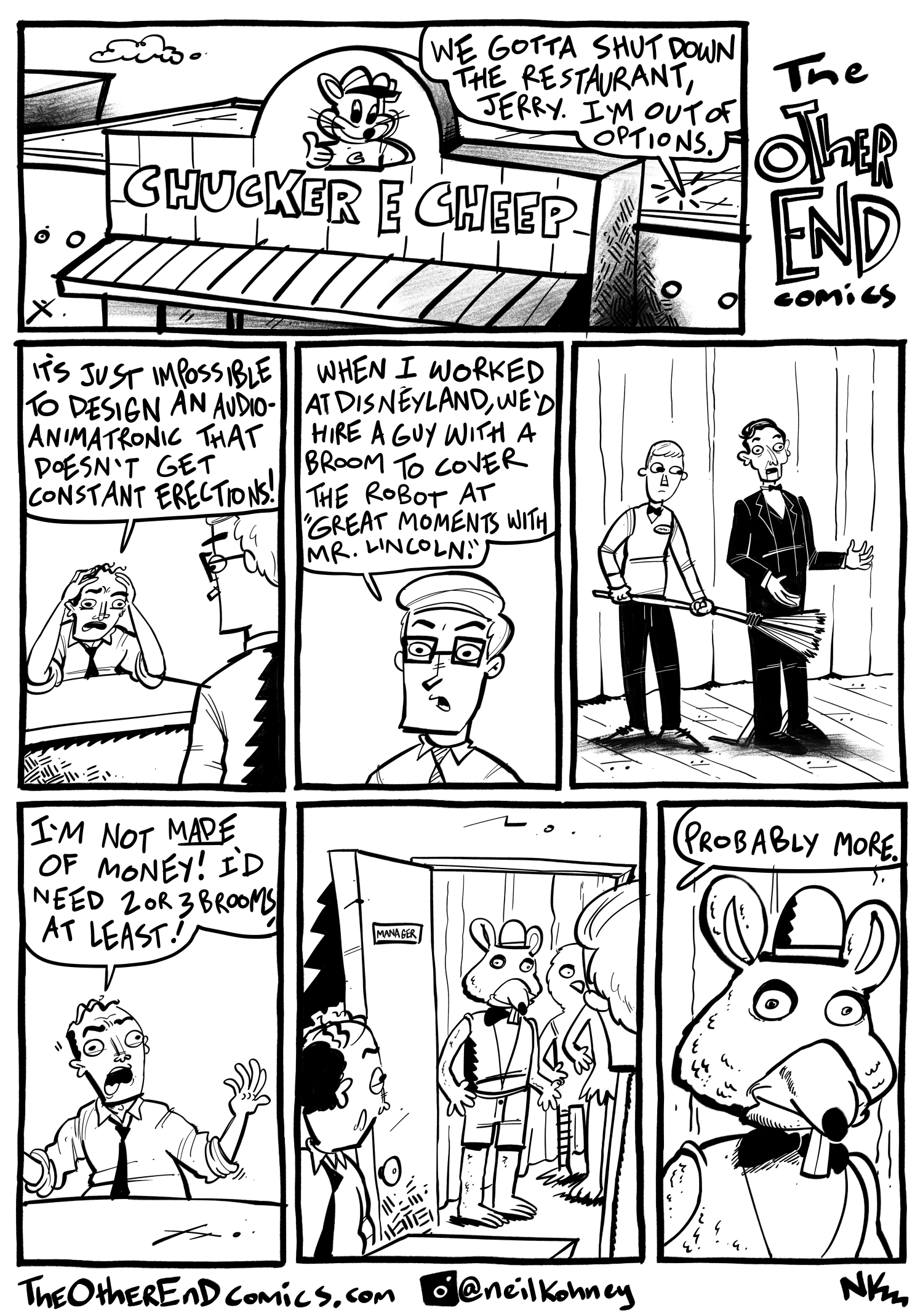 There should be a chair directly behind mr Lincoln. This comic is so fake