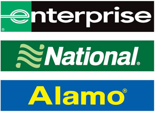 Enterprise, National, and Alamo