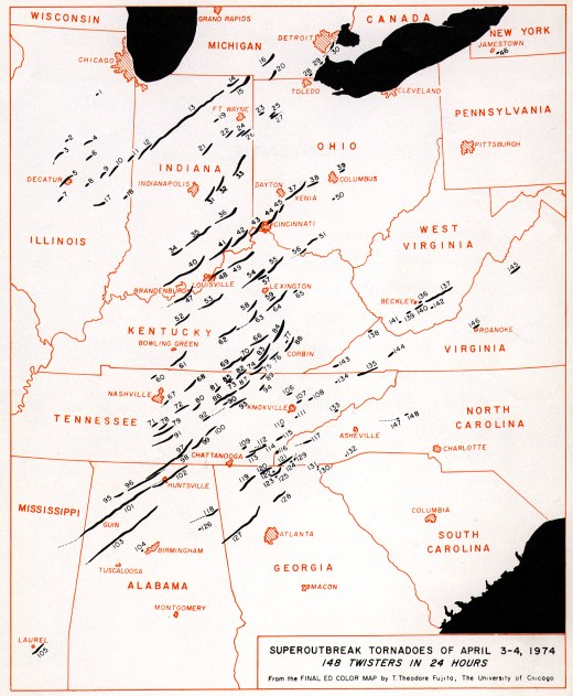 Super Outbreak Tornadoes of April 3-4, 1974