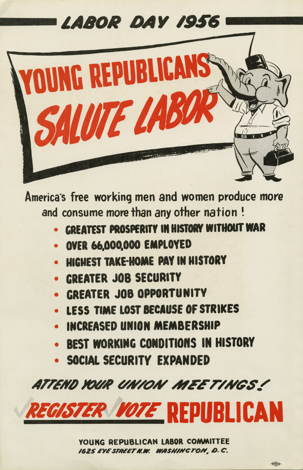 Young Republican Labor Committee - 1956