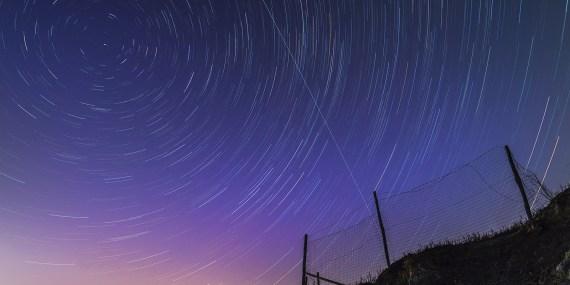 Stelle cadenti con movimento ritatorio delle stelle di Massimiliano Benvenuti