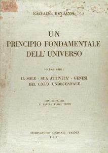 Libro di Raffaele Bendandi Il principio fondamentale dell'universo per prevedere i terremoti