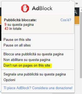 disclaimer AdBlock