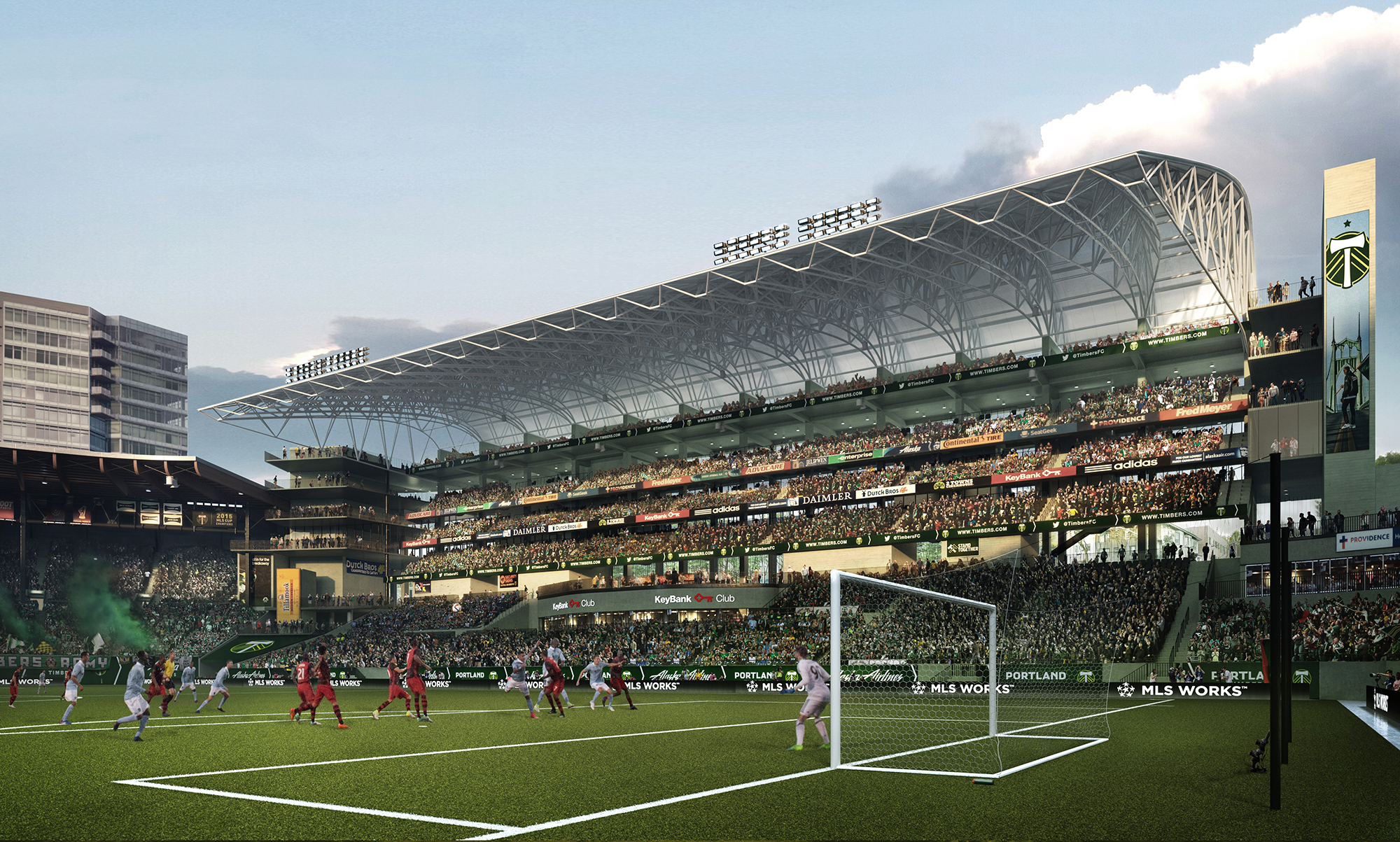 A look at the expanded Providence Park. (Brooklyn Digital Foundry_Timbers)_449541