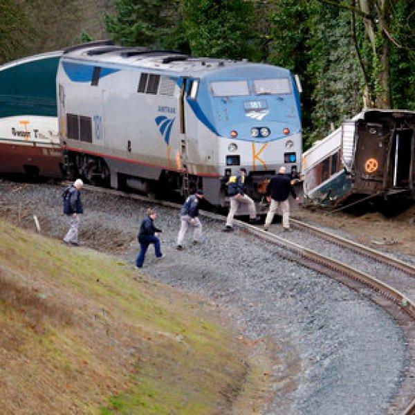 Derailed Amtrak spills diesel, watershed a concern