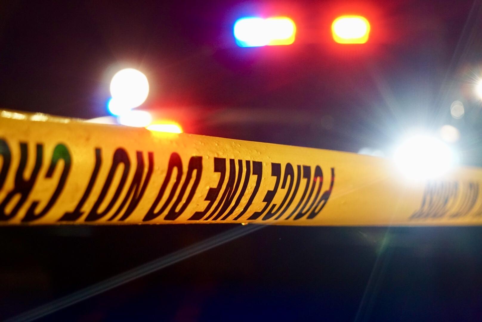 generic police crime tape breaking crash