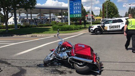 Motorcyclist flown to hospital after crash in North Plains