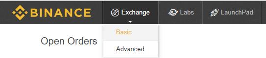 trade on binance website