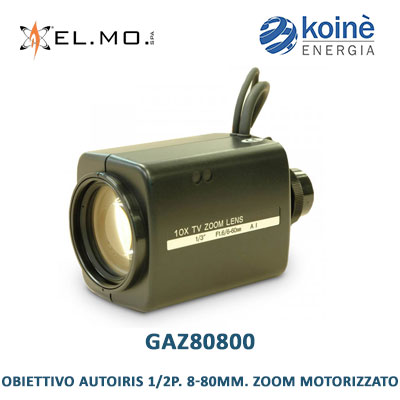 elmo GAZ80800 obiettivo