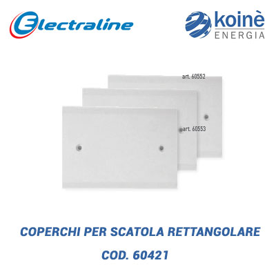 3 COPERCHI PER SCATOLA RETTANGOLARE electraline