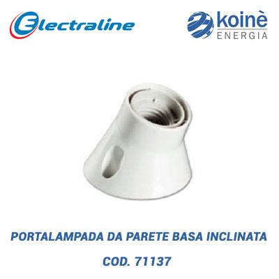 PORTALAMPADA DA PARETE-BASA INCLINATA electraline