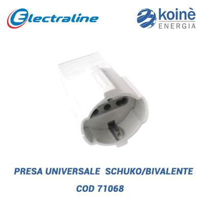 PRESA UNIVERSALE SCHUKO BIVALENTE electraline