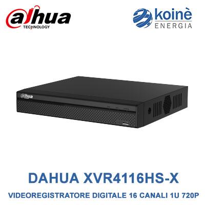DAHUA XVR4116HS-X videoregistratore dvr