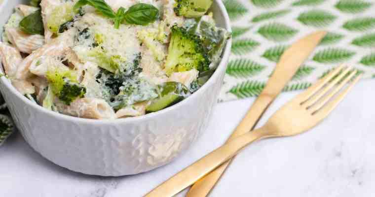 Pasta met ricotta en groene groenten