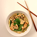 Thaise curry met noedels & kip
