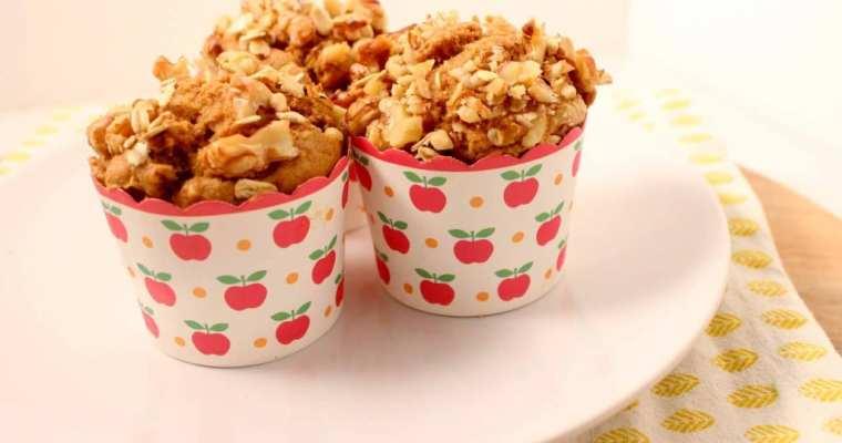 Gezonde ontbijtmuffins met appel