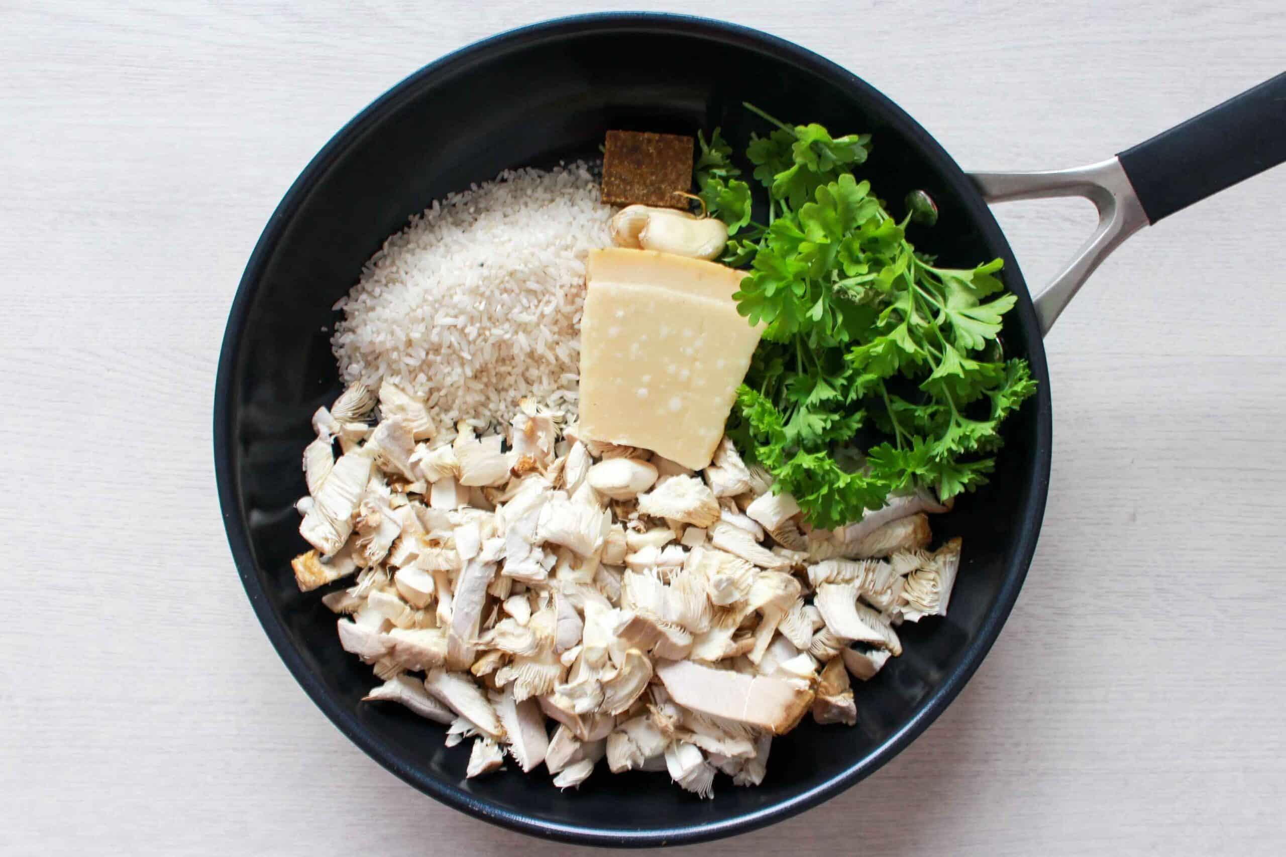 creamy rijst met parmezaan en champignons-2